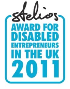 'Stelios Award for Disabled Enterpreneurs in the UK 2011' logo