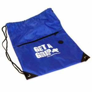 bag for gym kit, bag for gripping aids. Suitable for reduced hand function: tetra, quad, cerebral palsy, SCI, spinal cord injury, stroke and more.