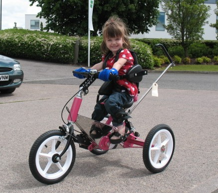 Holly loves getting out on her trike