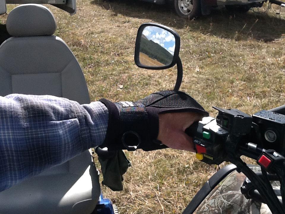 General Purpose aid holding ATV handle