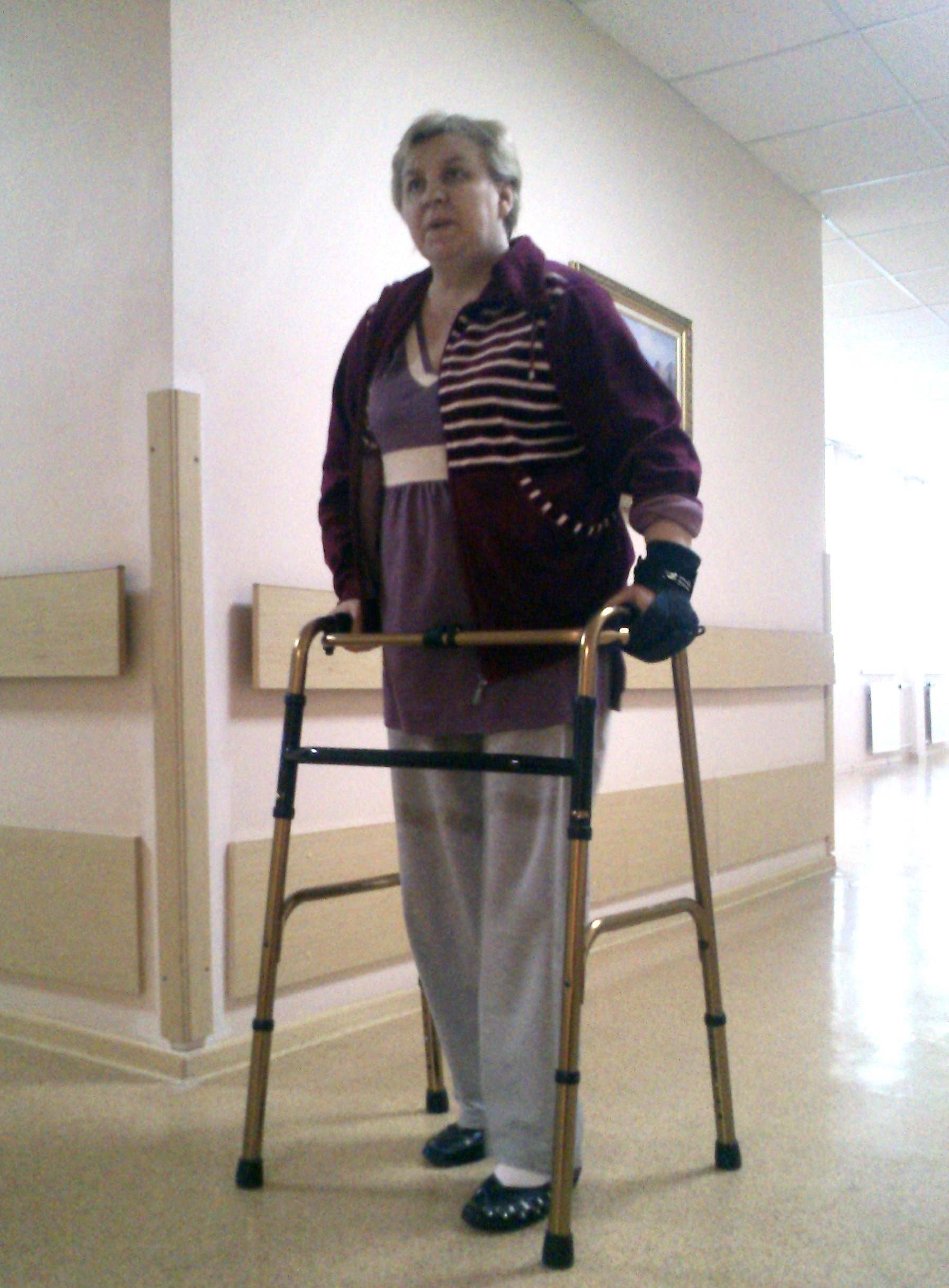 Grips being used on a walking frame