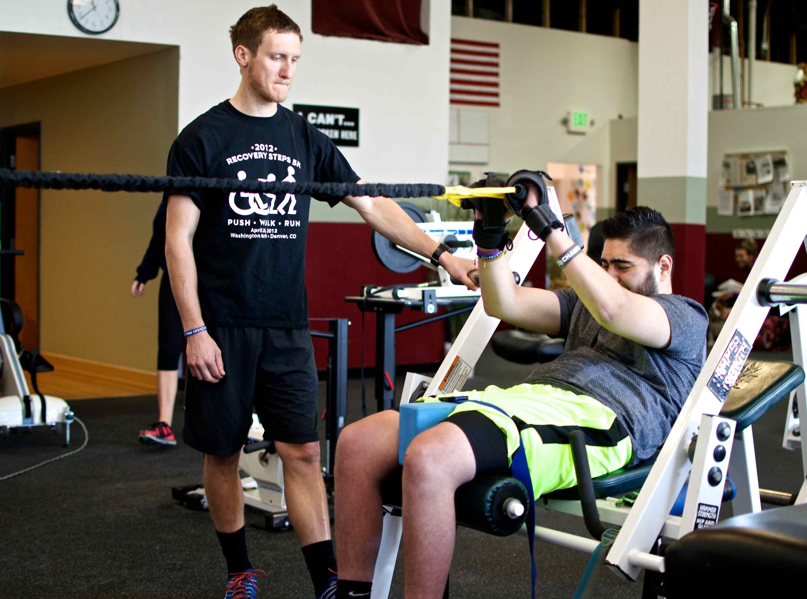 General Purpose aids in rehab. Adaptive gym equipment. Suitable for reduced hand function: tetra, quad, cerebral palsy, SCI, spinal cord injury, limb difference, stroke and more.