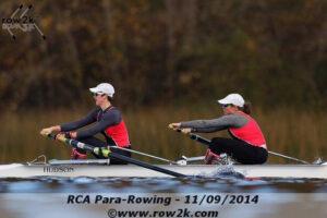 Veronique rowing