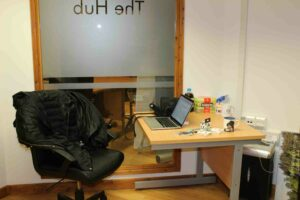 Clare's desk