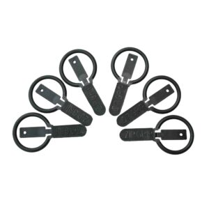 Zip grip zip pull pack of 6. Suitable for reduced hand function: tetra, quad, cerebral palsy, SCI, spinal cord injury, stroke and more.