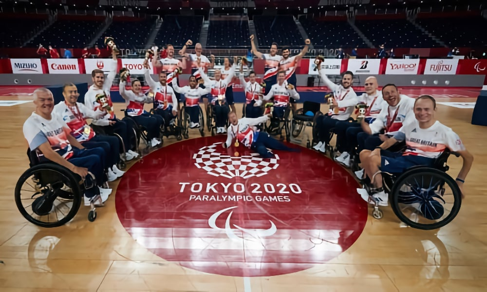The GB wheelchair rugby team at the 2021 Paralympics