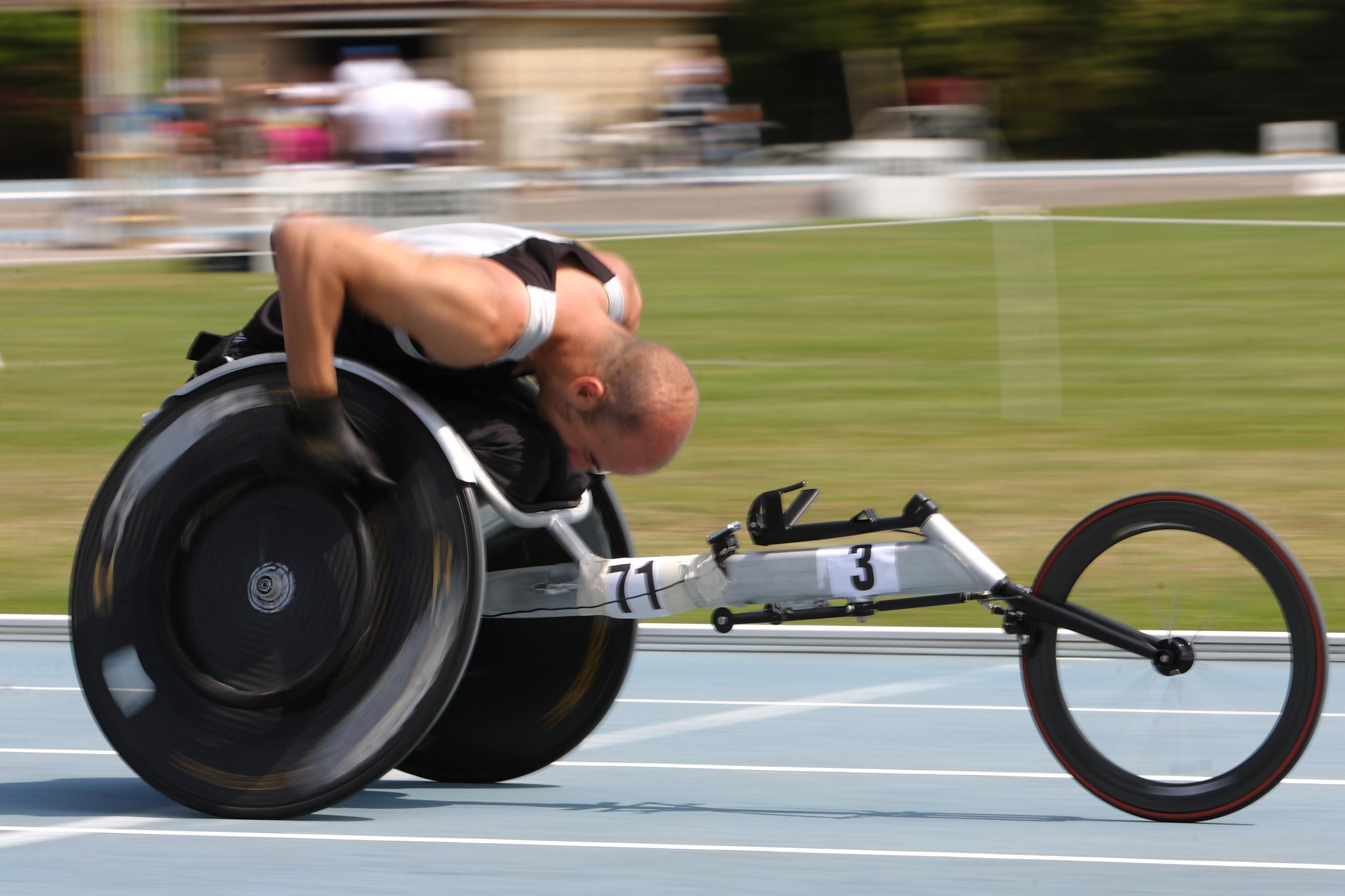 Rob wheelchair racing