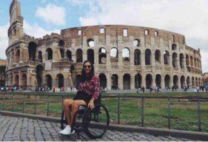 Oksana at the colosseum