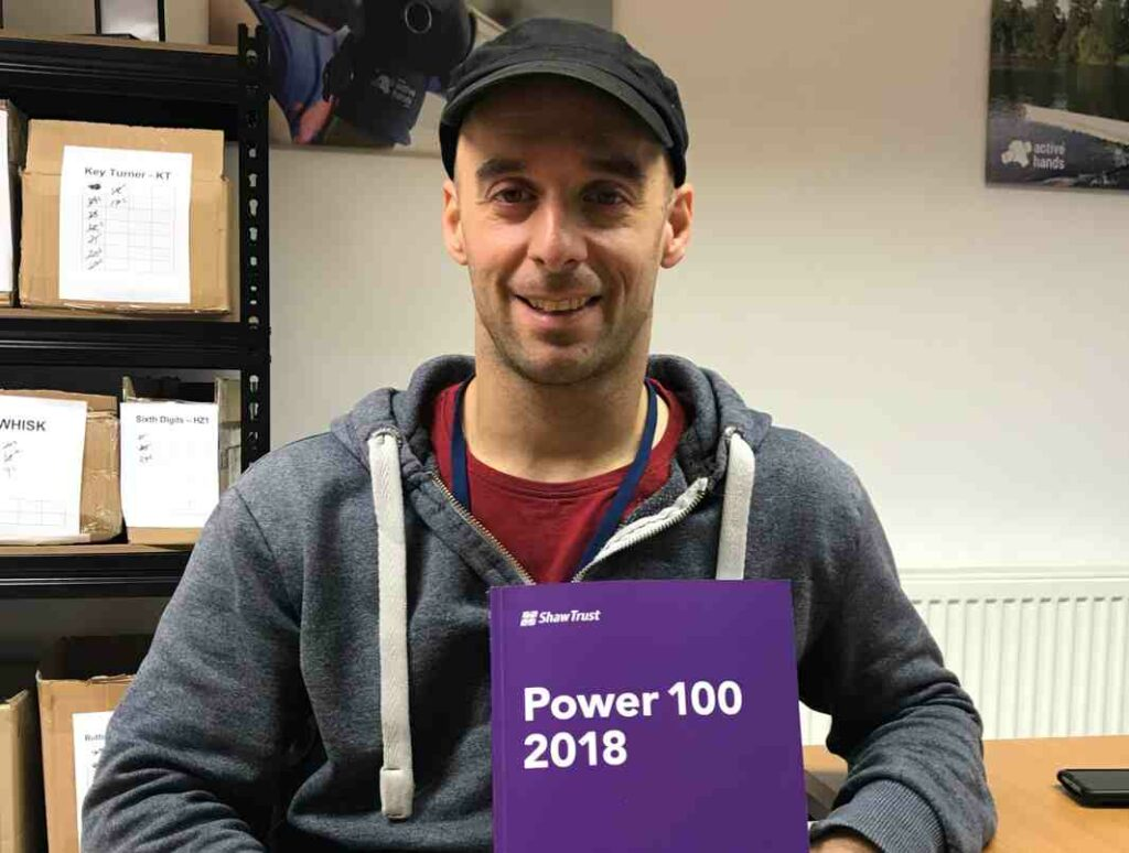 Rob holding Power 100 2018 list