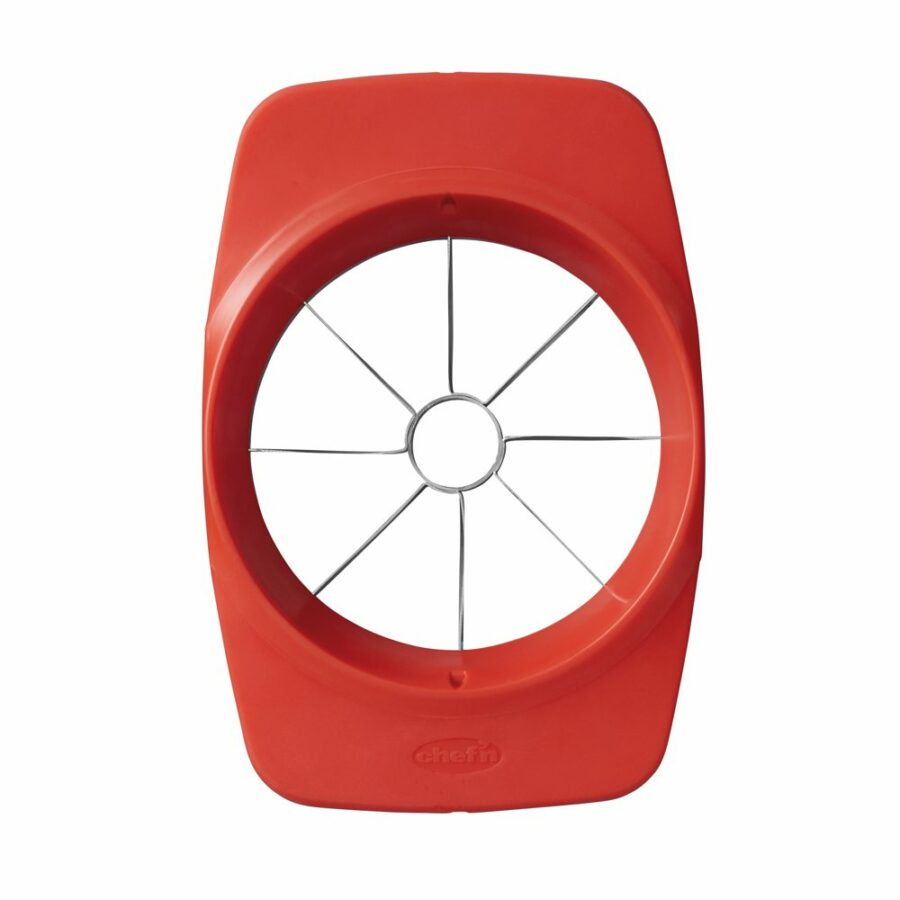 rebanadora de manzana, fácil de usar, empuje hacia abajo. Equipamiento de cocina adaptable.