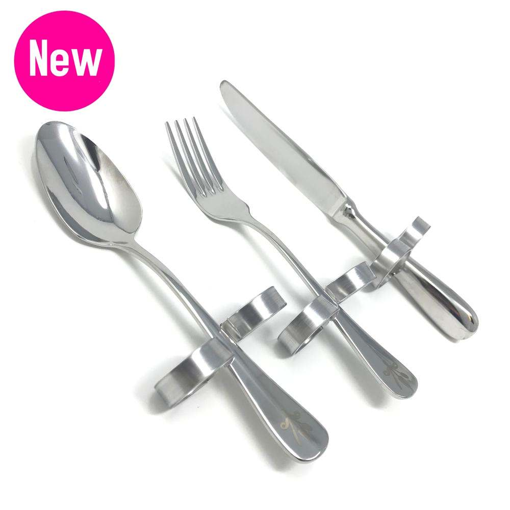 cutlery for quads, cutlery for tetras, cutlery for no hand grip