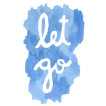 "Blue text reading ""let go"""