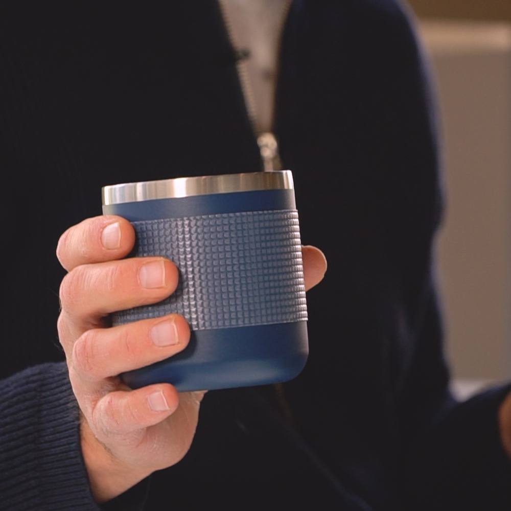 Put the tape around your coffee mug or water bottle