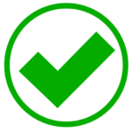 Green tick mark