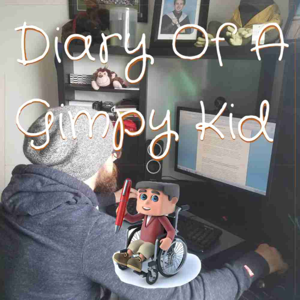 Diary of a Gimpy Kid blog entry