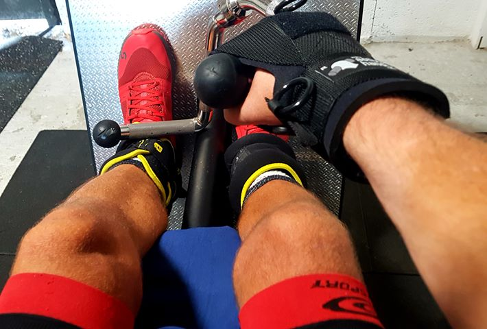 Stephane rowing with a General purpose glove