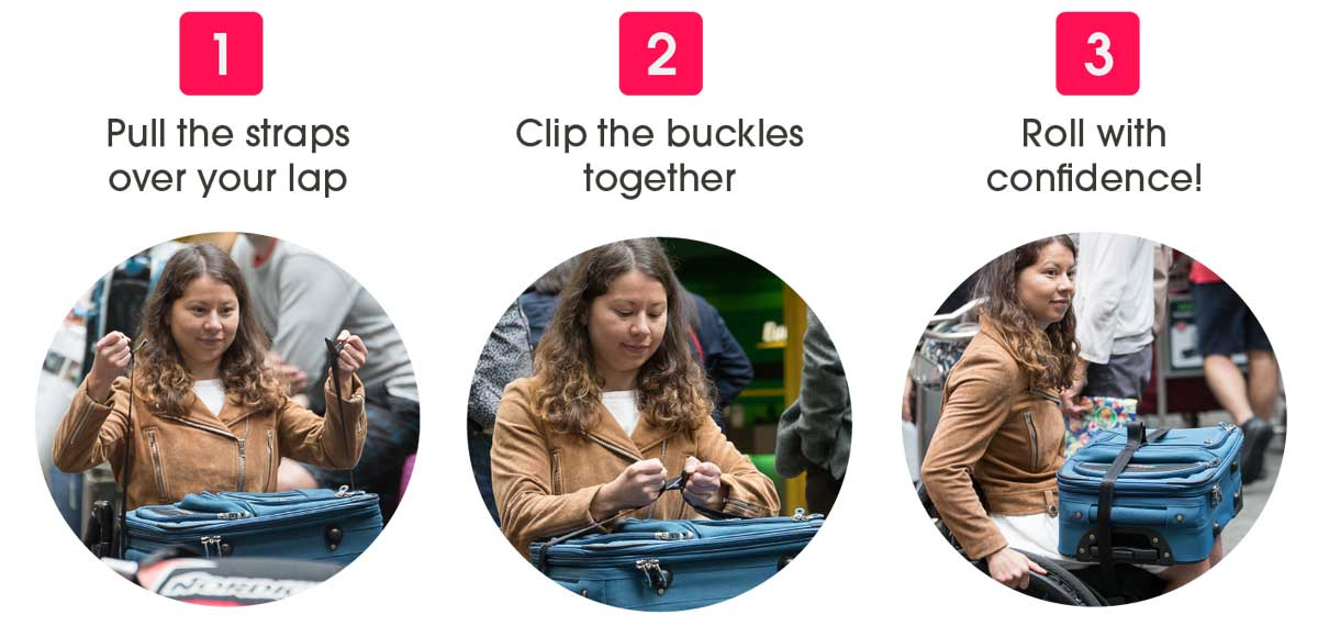 Instructions on how to use the LapStacker lap seatbelt up