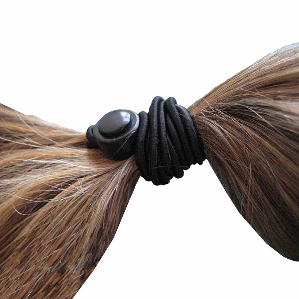 The 1 up hair tie is a one-handed method of creating a ponytail