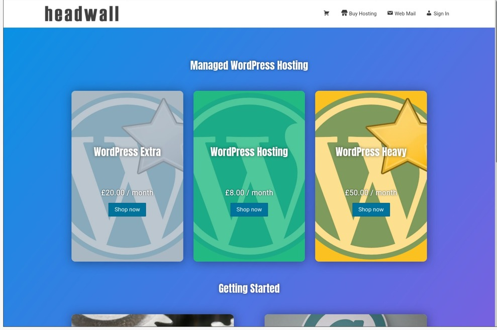Headwall offer managed wordpress hosting