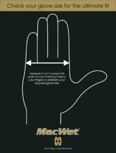 size guide for MacWet gloves