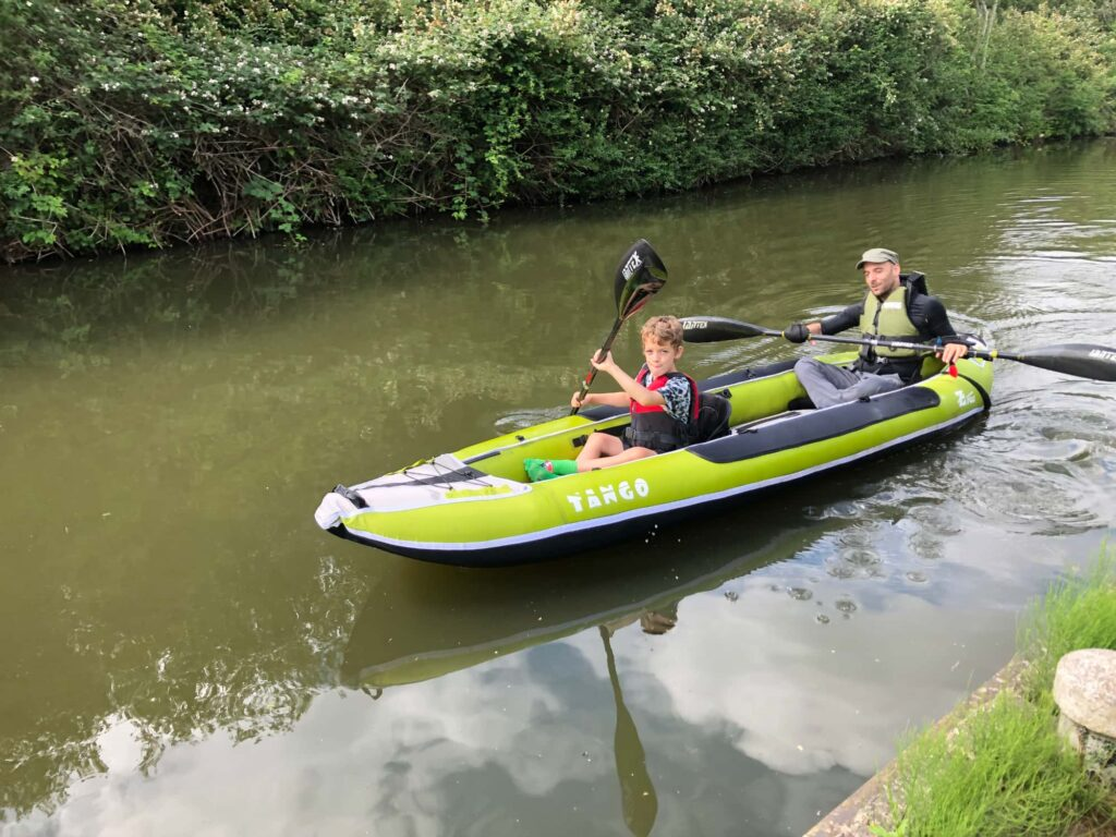 Rob and his son had a great time kayaking thanks to the kayak adaptations