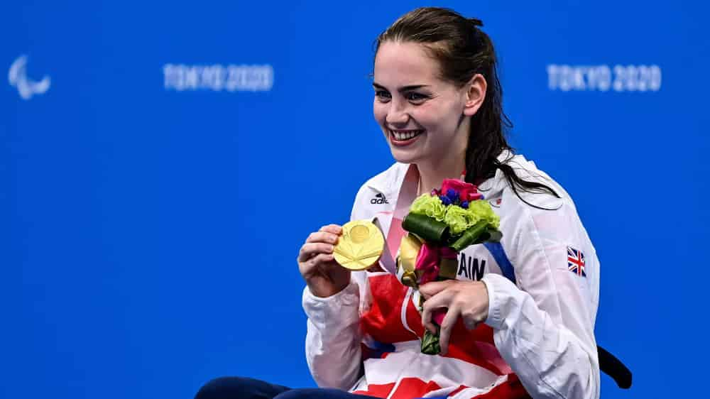 Active Hands ambassador Tully Kearney won a gold medal in freestyle swimming