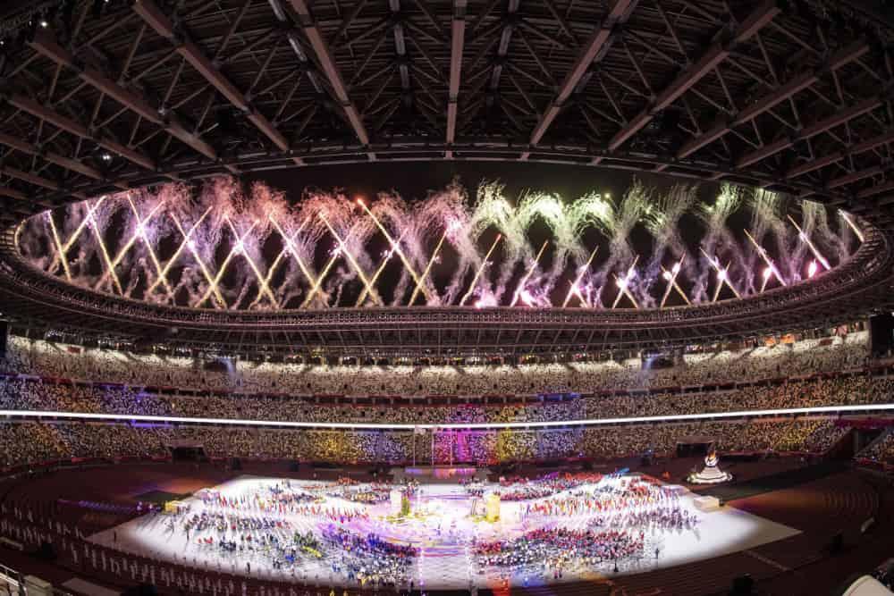 Paralympics opening ceremony in stadium